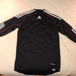 Adidas long sleeve athletic soccer shirt